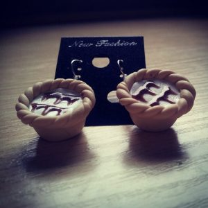 Bakewell Tart Dangle Earrings