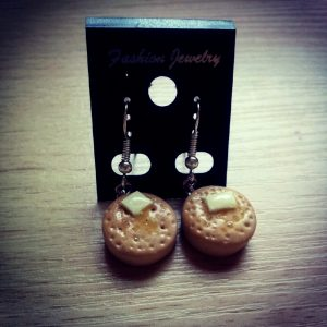 Buttered Crumpet Dangle Earrings