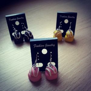 French Fancies dangle Earrings