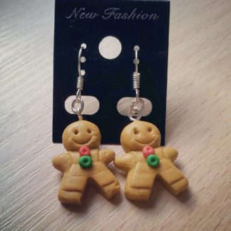 Gingerbread Dangle Earrings